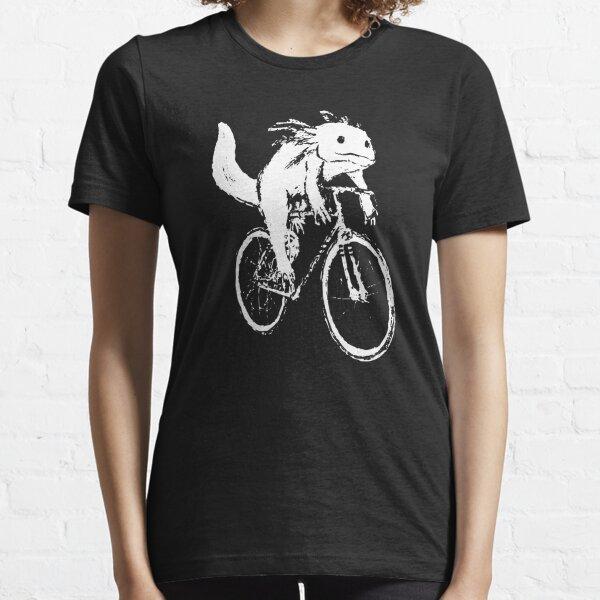 Axolotl Shirt - A Cycling Axolotl - Women's Short Sleeve Printed Short Sleeve Shirt for Axolotl Lovers - Cycling Shirt Essential T-Shirt