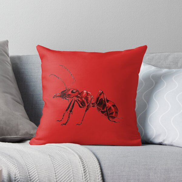 fire ant Throw Pillow