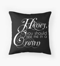 The King Of England Throw Pillow