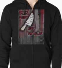 Jeff The Killer-Go to Sleep Zipped Hoodie