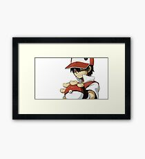 PKMN TRAINER RED Framed Print