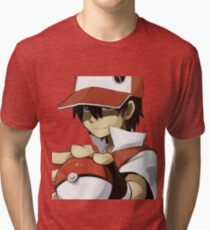 PKMN TRAINER RED Tri-blend T-Shirt