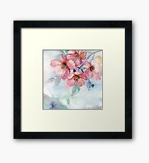 Watercolor Flowers Framed Print
