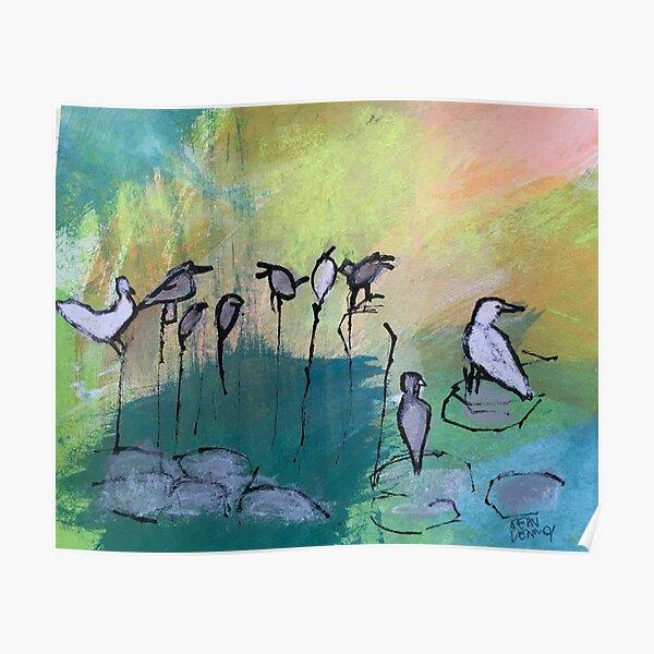 Perching Birds Poster