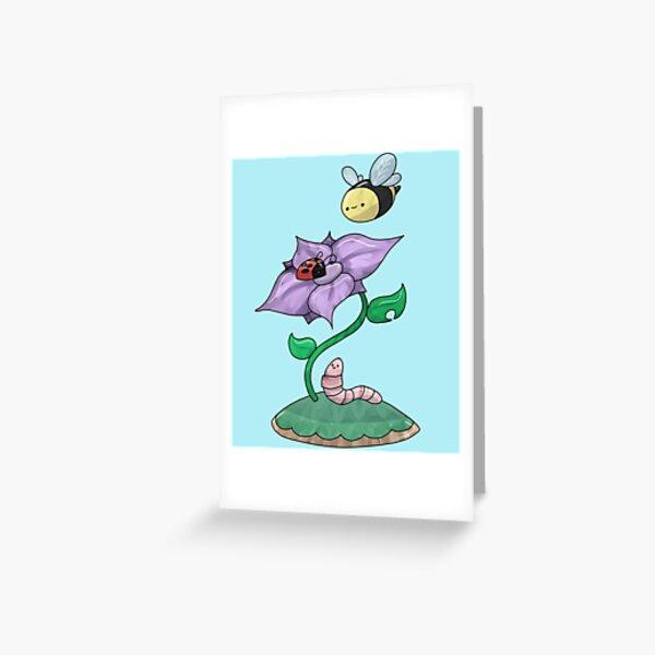 Halloween House Mouse Mice Butterfly Ladybug Bee Worm Halloween Greeting Card