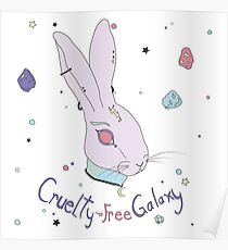 Vegan Bunny Poster
