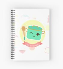 Cute MY RECIPES pot Spiral Notebook