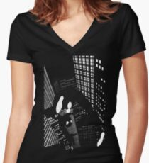 Night Spider Women's Fitted V-Neck T-Shirt