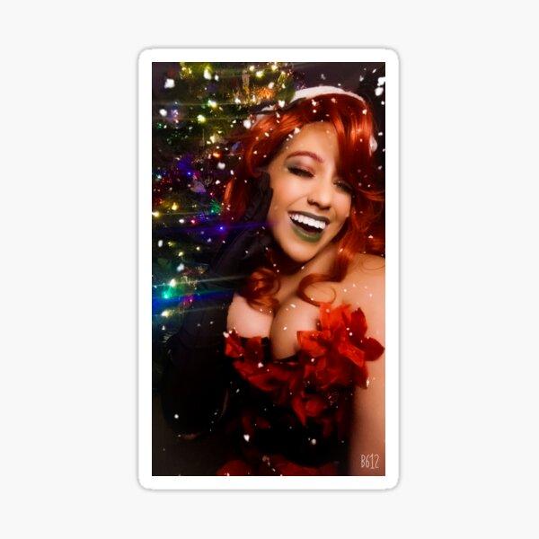Christmas Poison Ivy  Sticker