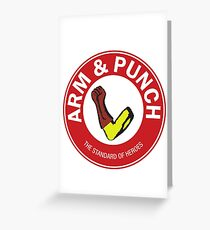 Arm & Punch One Punch Man Greeting Card