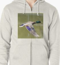 Duck in flight Zipped Hoodie