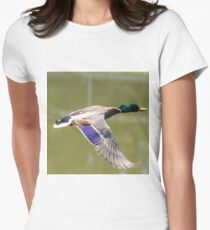 Duck in flight Fitted T-Shirt