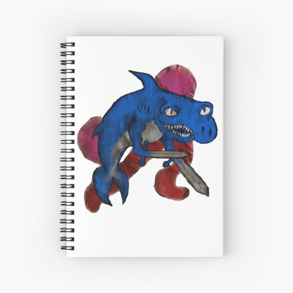 Swordhand Shark with Colors Spiral Notebook