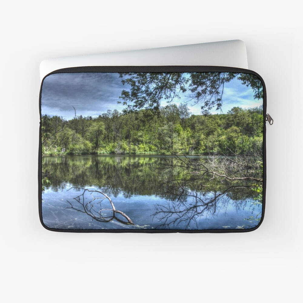 Reflected trees Laptop Sleeve