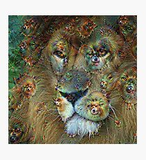 Dream Creatures, Lion 001, DeepDream Photographic Print