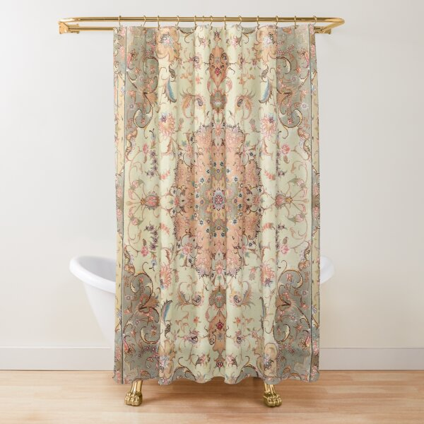 North-West Persia Tabriz Old Century Authentic Colorful Blush Peach Peachy Vintage Patterns Shower Curtain
