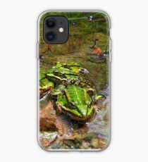 Dream Creatures, Frog 001, DeepDream  (Traumgeschoepfe) iPhone Case
