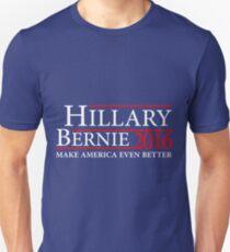Hillary Clinton Bernie Sanders Make America Even Better  2016 Campaign T-Shirt