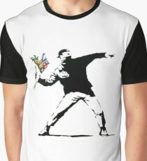 Flower Thrower - Banksy Graphic T-Shirt