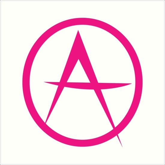 Hot Pink Anarchy Symbol Art Prints By Jazzydevil Redbubble