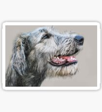 Irish Wolfhound pup Sticker