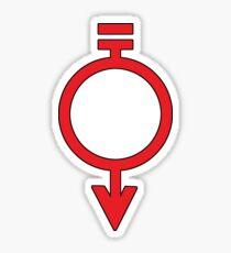 Red colourCaste - Worker Sticker