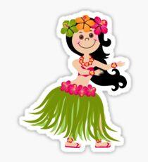 Hawaiian Girl Sticker