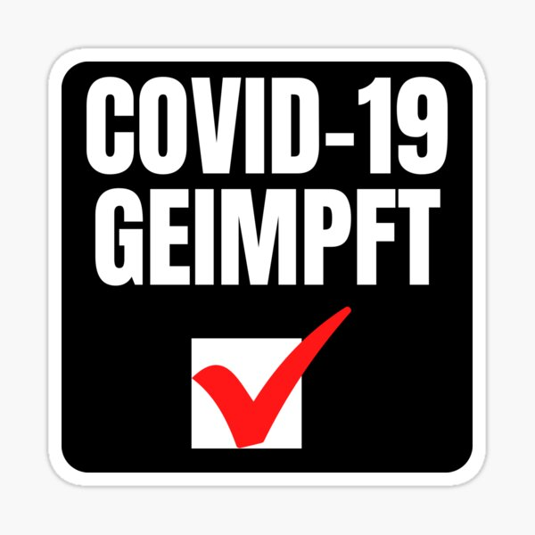 Covid geimpft Pegatina