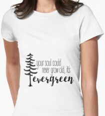 evergreen  Womens Fitted T-Shirt