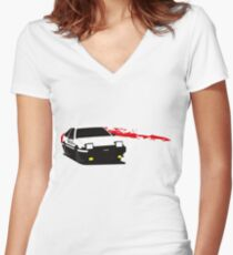 InitialD Women's Fitted V-Neck T-Shirt