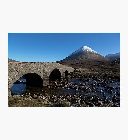 Glamaig and the Sligachan Bridge Photographic Print