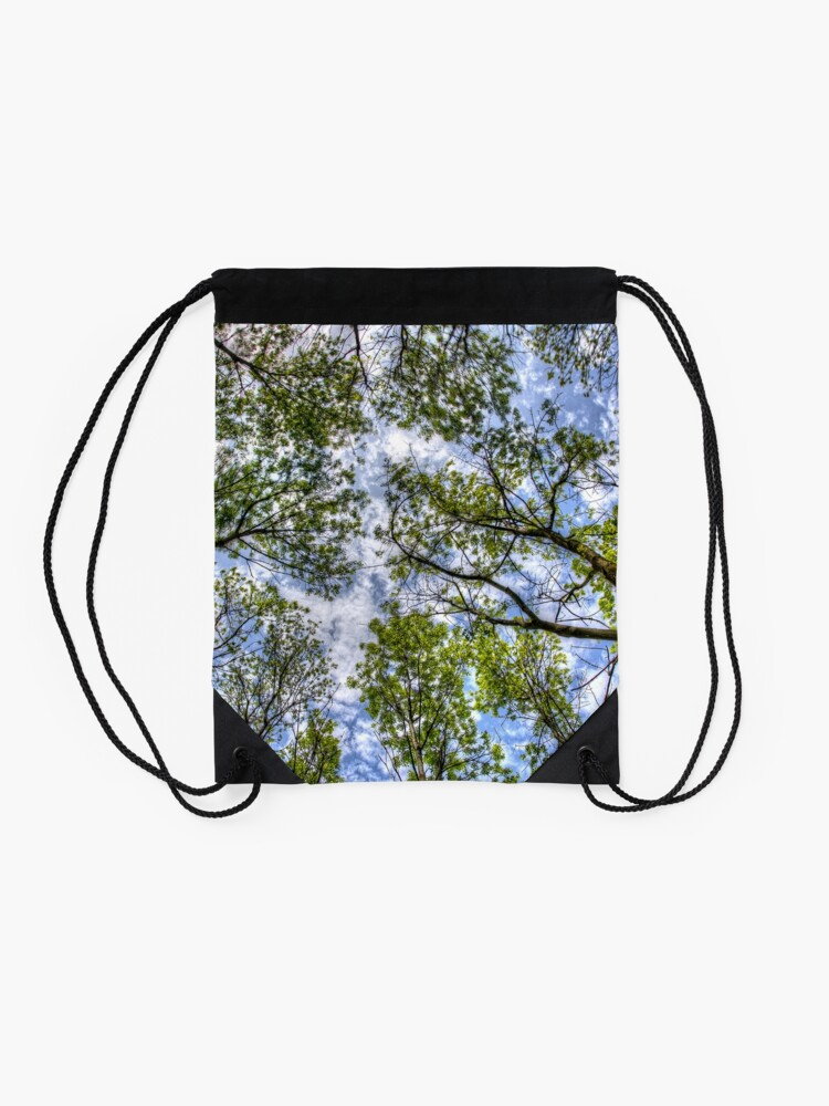 Alternate view of Trees in the sky Drawstring Bag