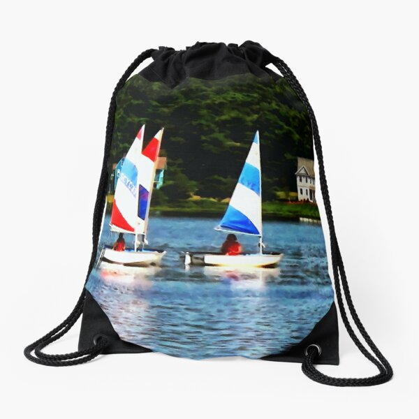 Striped Sails Drawstring Bag