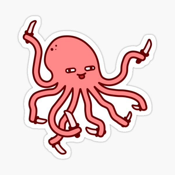 dangerous octopus Sticker