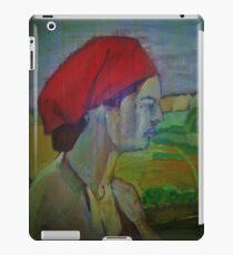 Woman with red headband  iPad Case/Skin