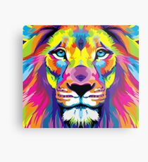 Painted Lion Metal Print