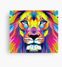 Gemalter Löwe Leinwanddruck