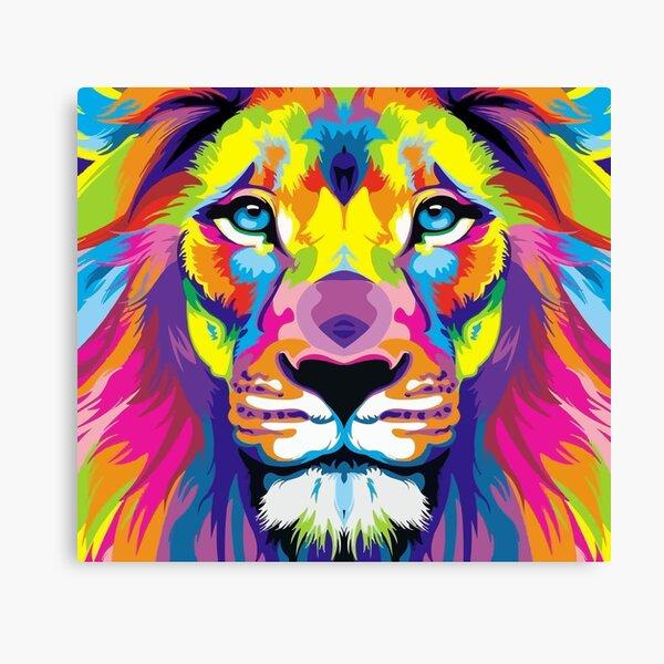 Painted Lion Canvas Print