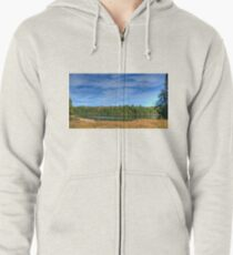 Forest under blue sky Zipped Hoodie