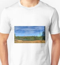 Forest under blue sky Slim Fit T-Shirt