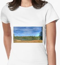 Forest under blue sky Fitted T-Shirt