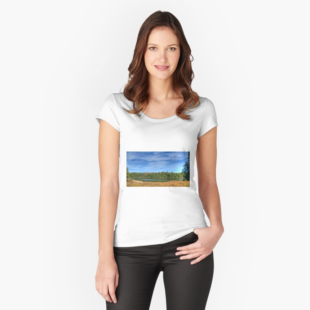 Forest under blue sky Fitted Scoop T-Shirt