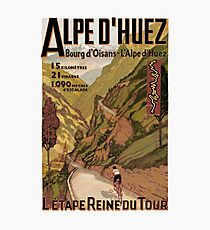 Vintage French sponsored Swiss Alps sport bicycle tour advert Photographic Print