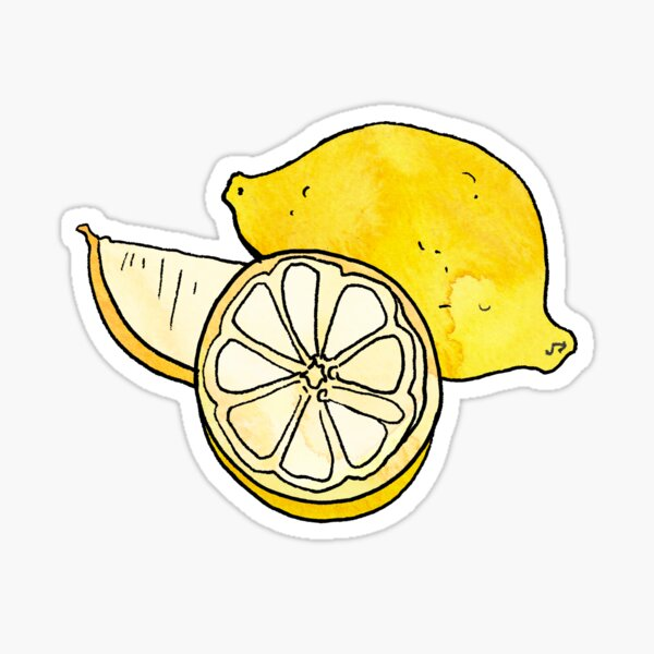Zesty Lemon Sticker