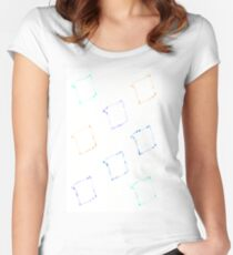 Water Paint Diamonds Women's Fitted Scoop T-Shirt