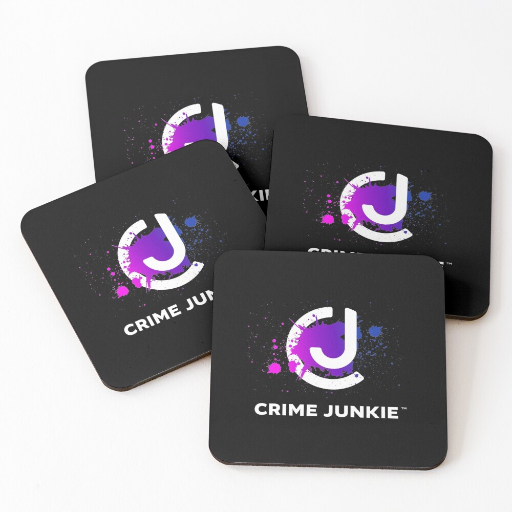 Crime Junkie True Crime Podcast Coasters (Set of 4)