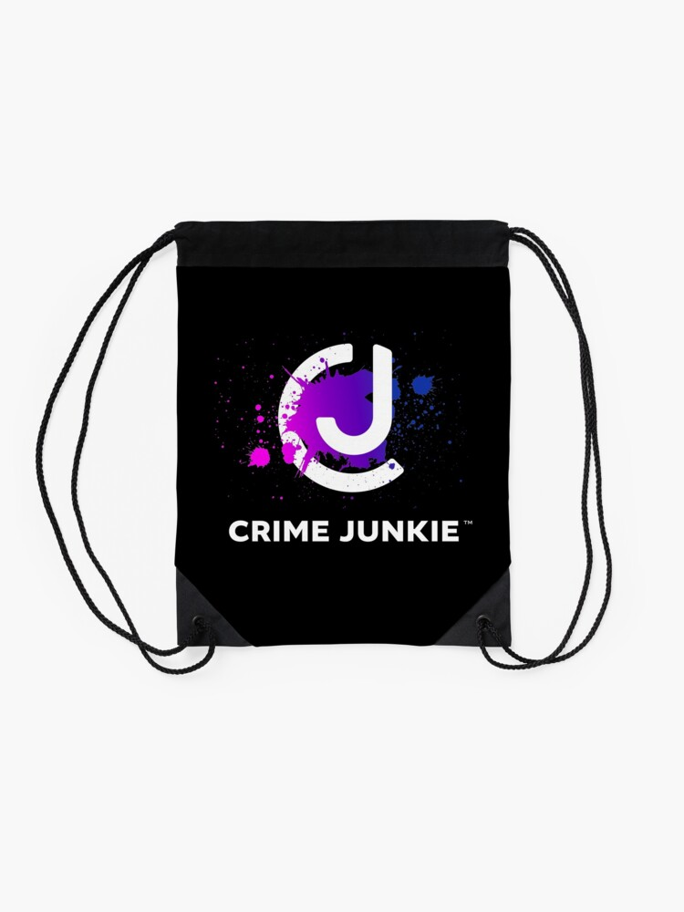 Alternate view of Crime Junkie True Crime Podcast Drawstring Bag