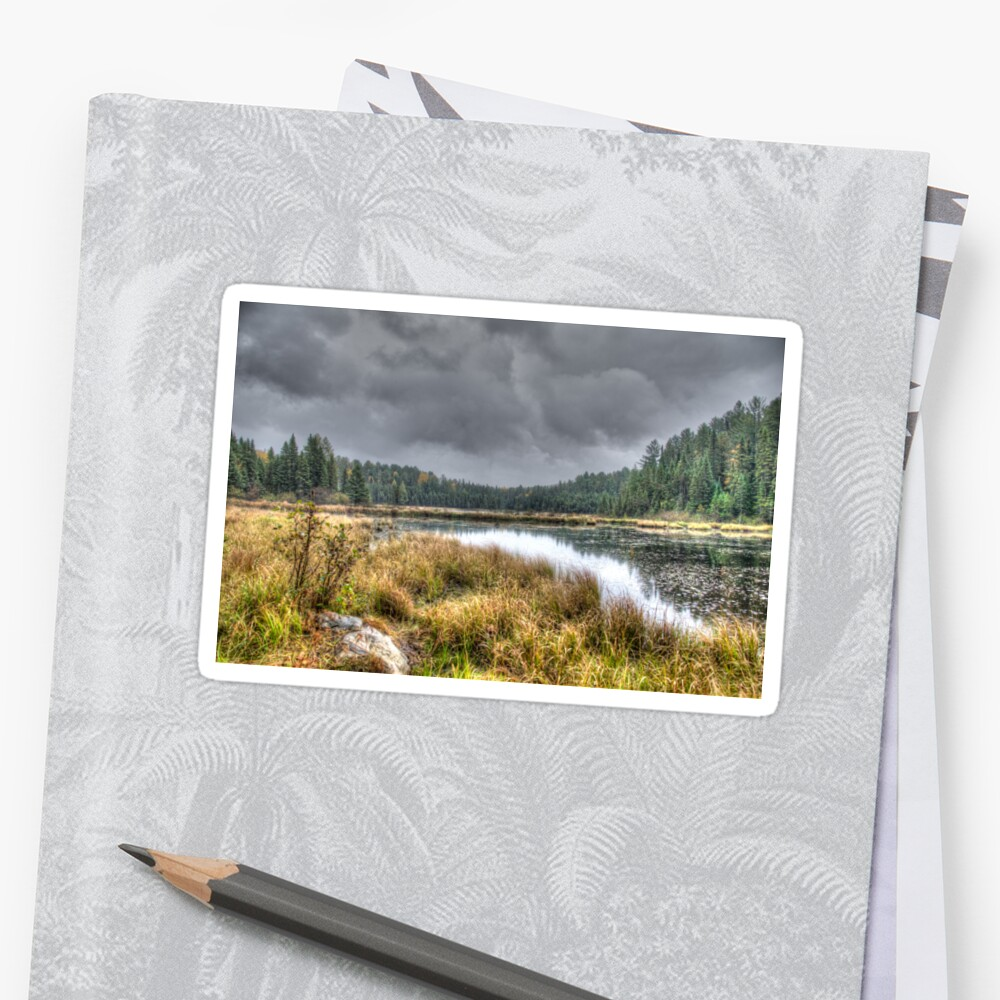 Clouds over the wetlands Sticker
