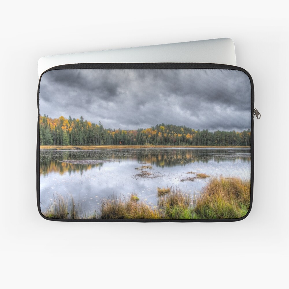Overcast day over the pond Laptop Sleeve
