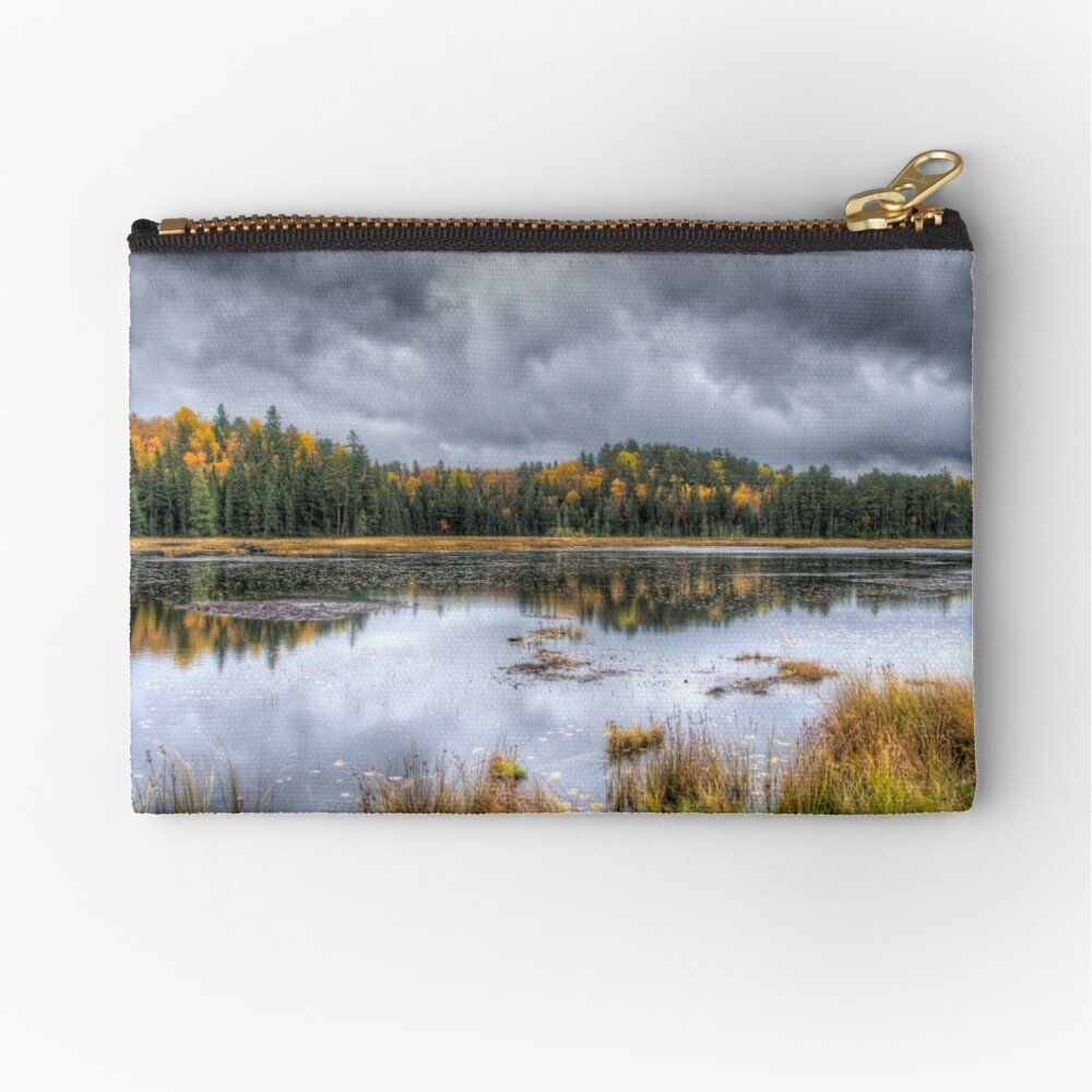 Overcast day over the pond Zipper Pouch